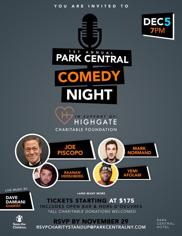 Park Central Comedy Night w/ Joe Piscopo